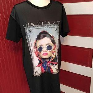 NWT Fashion Nova Vintage Tunic M